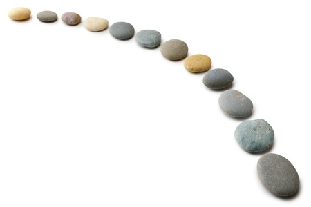 Twelve Pebbles in a Line