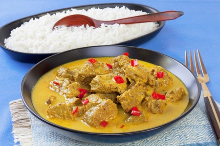 Beef Madras Curry and Rice