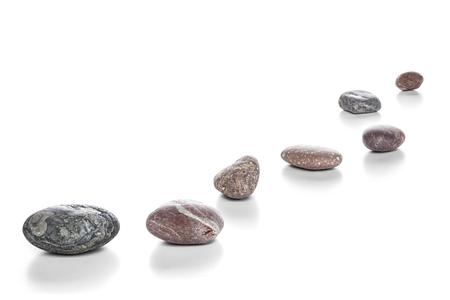 Stepping Stones on White Stock fotó