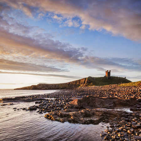 Dunstanburgh Castle Northumberland England
