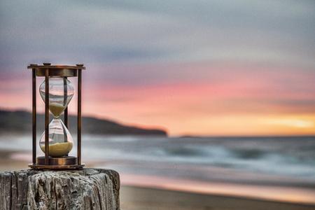 Klepsydra na plaży Zdjęcie Seryjne