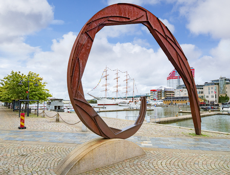 Modern Art Lilla Bommens Torg Gothenburg Sweden Redakční