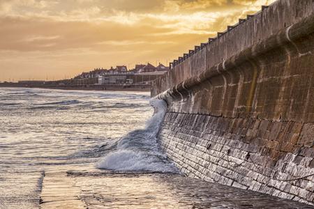 Sea Wall, Bridlington 版權商用圖片