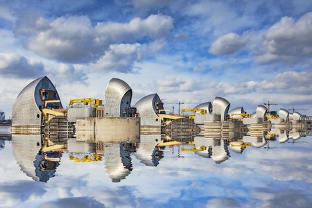 Thames Barrier Reflection London UK