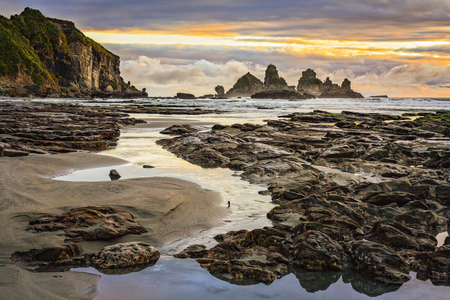Motukiekie Coastline, New Zealand