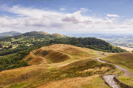 Malvern Hills with British Camp, UK
