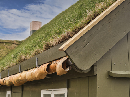 Traditional Grass Roofed building in Torshavn, Faroe Islands. Stock Photo - 117900268
