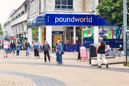Poundworld, Plymouth, Devon UK Editorial