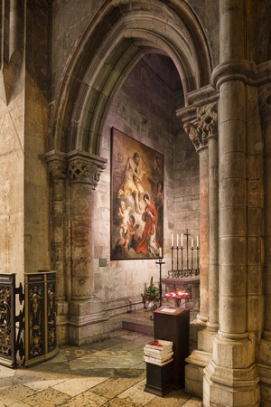 Religious Artwork in Lisbon Cathedral 스톡 콘텐츠