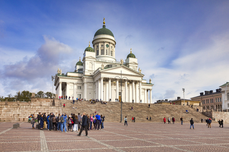 Helsinki Cathedral and Tour Group, Finland