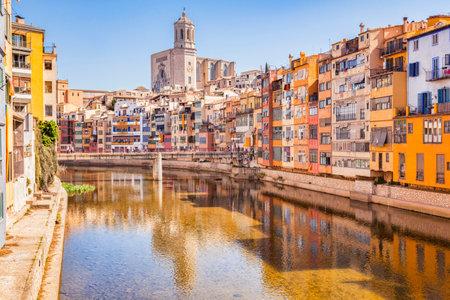 Girona, Catalogne, Espagne, rivière Onyar