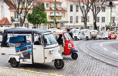 Tuk tuks for hire Lisbon Portugal