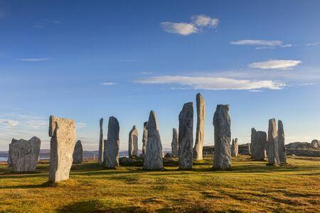 Callanish Stone Circle, Isle of Lewis, Scotland 版權商用圖片