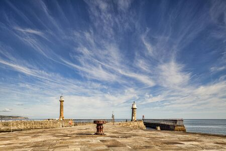 Pier and Lighthouses, Whitby, North Yorkshire