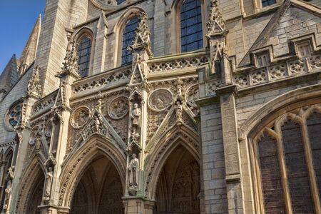 Detail of Truro Cathedral Cornwall UK Archivio Fotografico