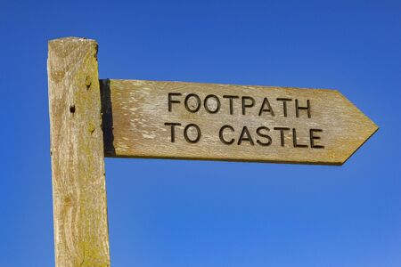 Sign Post Footpath to Castle