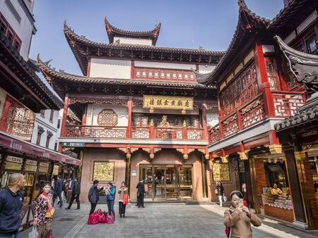 Street in Shanghai Old Town Editoriali