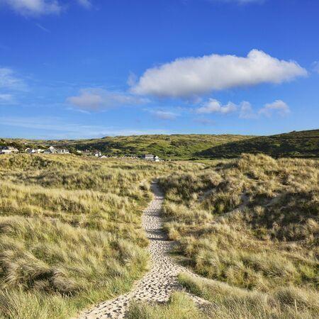South West Coast Path at Holywell Bay Cornwall UK