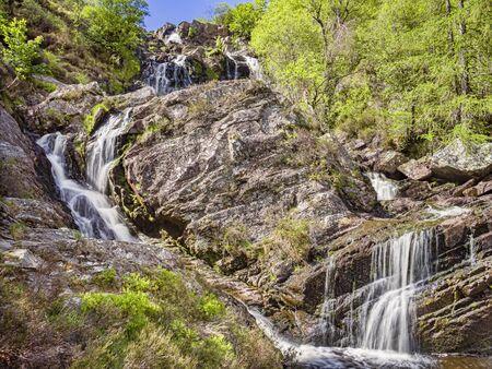 Rhiwargor Waterfall Wales UK 版權商用圖片