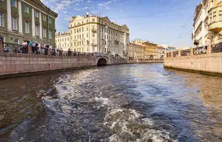 Boat Wake St bPetersburg Canal Russia