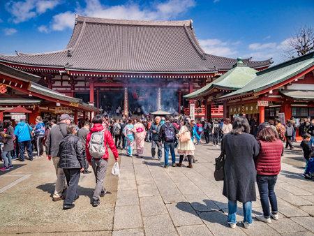 Visitors at Senso-ji Temple, Tokyo