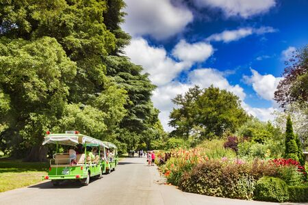 Christchurch Botanic Gardens New Zealand, the Herbaceous Border and Tourists