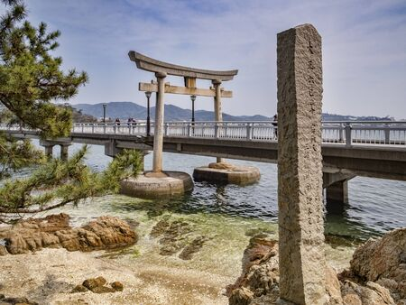 Bridge to Takeshima, Gamagori, Japan Archivio Fotografico - 133524403
