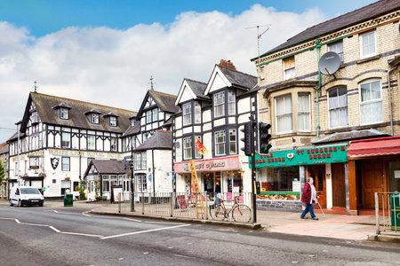 Bala High Street, Gwynedd, Wales, UK Editoriali