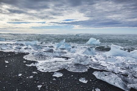 Diamond Beach South Iceland Archivio Fotografico - 134361615