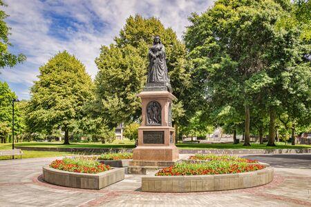 Queen Victoria Statue, Christchurch, New Zealand Archivio Fotografico