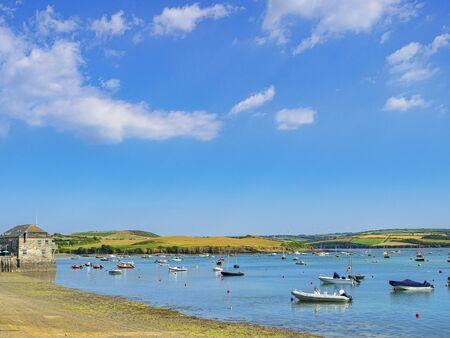 Boats on the Camel Estuary at Rock, Cornwall, UK