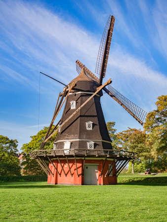 Windmill Inside Kastellet, Copenhagen Archivio Fotografico