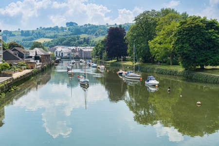 River Dart at Totnes Devon UK