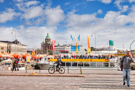 Helsinki Waterfront with Sightseeing Boat