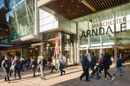 Manchester Arndale Centre, Exterior, and Pedestrians, UK