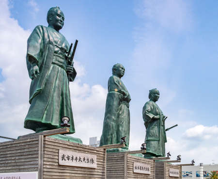 Samurai Statues, Kochi City, Japan 新闻类图片