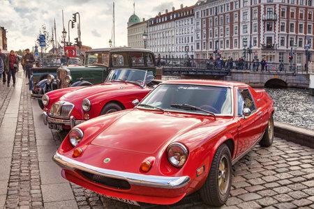 Vintage Cars at Nyhavn, Copenhagen, Denmark
