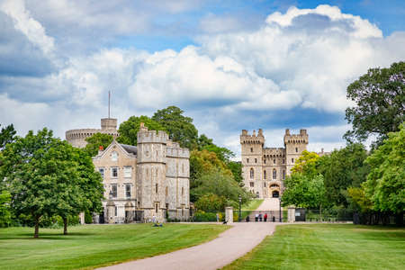 5 June 2019: Windsor, Berkshire, UK - Windsor Castle from The Long Walk in Windsor Great Park.