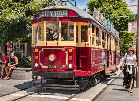 Vintage Tram, Christchurch, NZ 新闻类图片