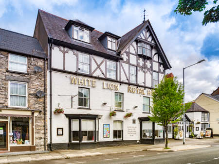 White Lion Royal Hotel, Bala High Street, Gwynedd, Wales, UK 新闻类图片