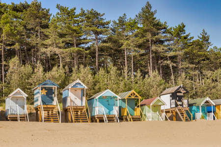 Huts on the Beach at Wells Next The Sea, Norfolk, UK