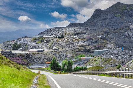 Blaenau Ffestiniog, Gwynedd, Wales, and Slate Mine 新闻类图片