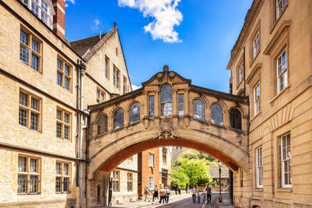 Bridge of Sighs, Oxford, UK 新闻类图片