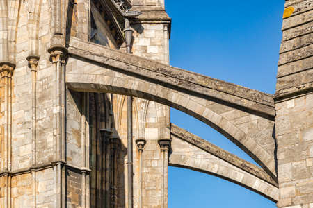 Flying Buttresses, Lincoln Cathedral, UK 新闻类图片