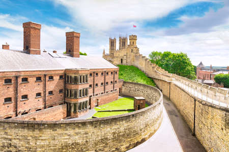 Lincoln Gaol from the Walls of Lincoln Castle, UK