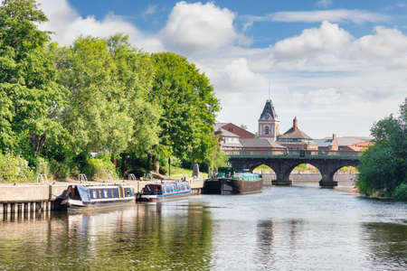 Newark on Trent, the River Trent and Trent Bridge