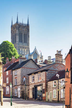 Lincoln Cathedral and Steep Hill, UK