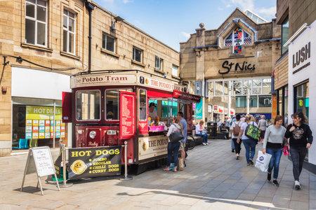 Lancaster Town Centre, Lancashire, UK Editorial