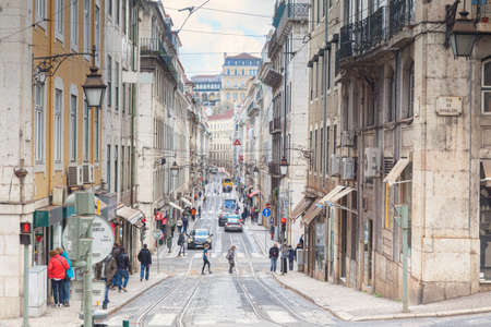 Lisbon Busy Street in Central City