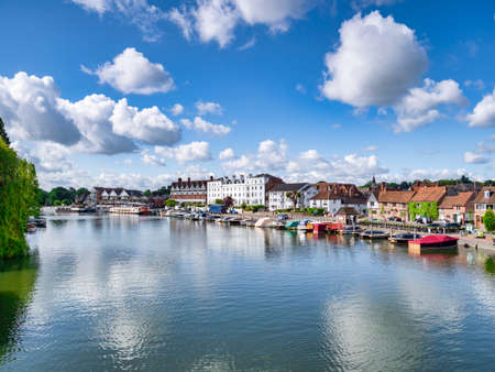 River Thames at Henley on Thames, UK 免版税图像 - 156056047